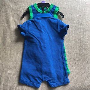 44a1d0e24cf Little Me One Pieces - Little Me Boys 2 pk rompers and hat - 3m -